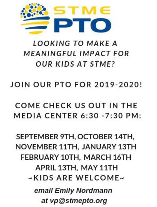 PTO Meeting Schedule