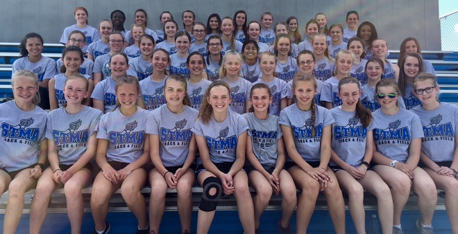 2018 MIddle School 7th Grade Girls track & field team