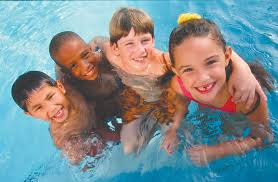 Picture of 4 kids in a pool