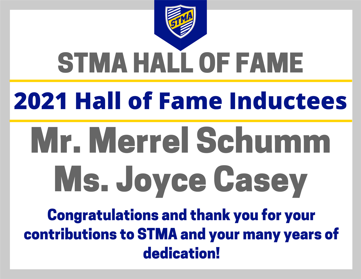 2020 STMA Hall of Fame Inductees Announced
