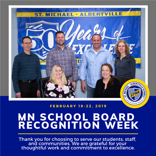We are celebrating MN School Board Recognition Week!