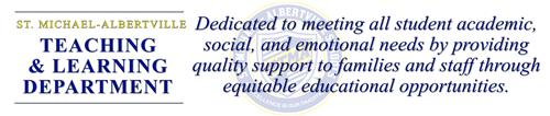 Teaching & Learning banner with mission statement