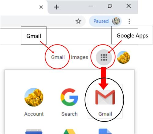 Opening Gmail