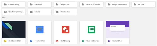 Screen imag eof the file structure in google drive